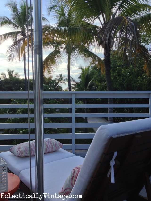 Balcony view in a Casa Morada boutique hotel suite - Islamorada Florida kellyelko.com