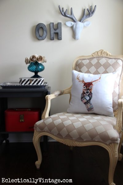 Make a DIY Deer Head eclecticallyvintage.com