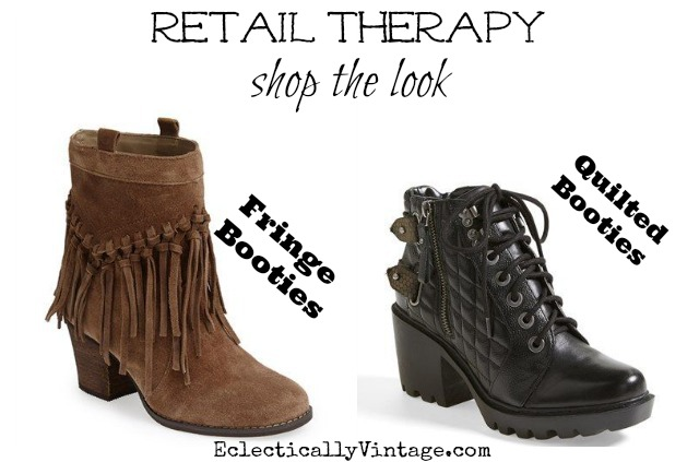 Fun fall booties - love both of these styles! kellyelko.com