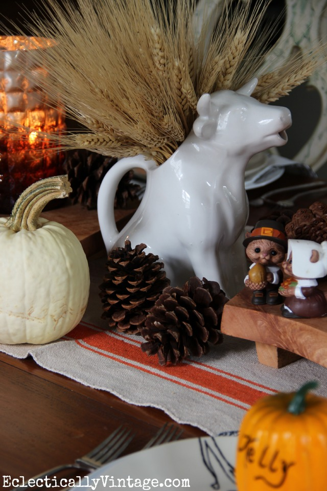 Love this fall Thanksgiving wheat centerpiece kellyelko.com