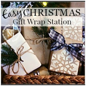 Gift Wrap Station Ideas kellyelko.com