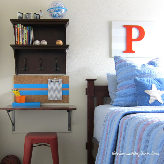 Cool boys bedroom - love the small desk kellyelko.com