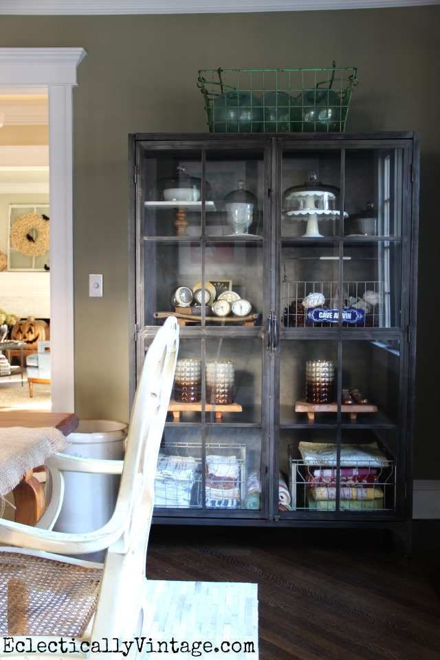 This Huge Metal Cabinet Is Such A Perfect Piece For Display And Storage Kellyelko