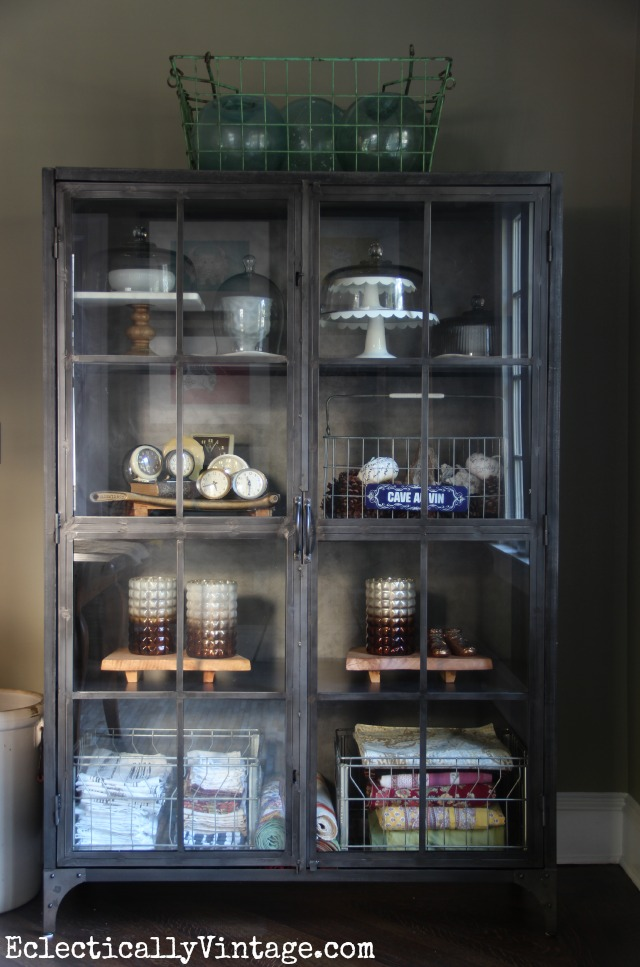 I Love This Huge Industrial Cabinet   Perfect For Displaying Collections  Kellyelko.com
