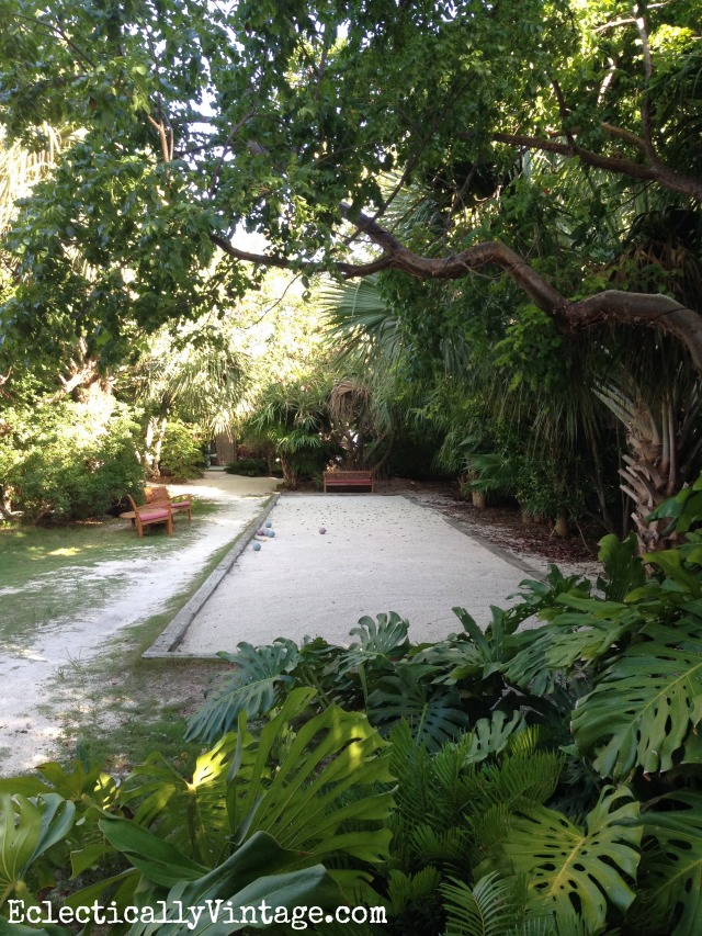 Bocce ball court at Casa Morada boutique hotel in Islamorada Florida kellyelko.com