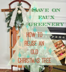 How to reuse and old Christmas tree kellyelko.com