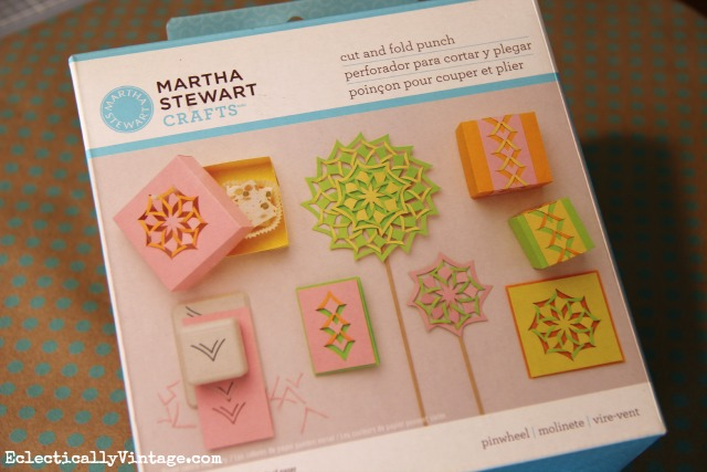 Martha Stewart Cut and Fold punch - perfect for making paper pinwheels! kellyelko.com