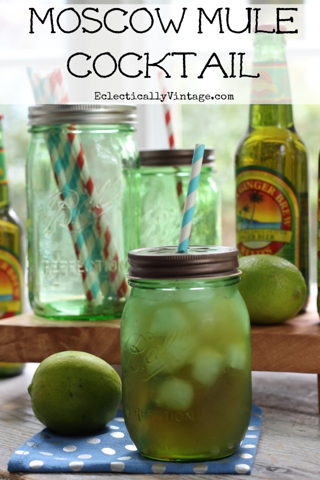 Moscow Mule Recipe - I love this cocktail that's been around since 1942! kellyelko.com