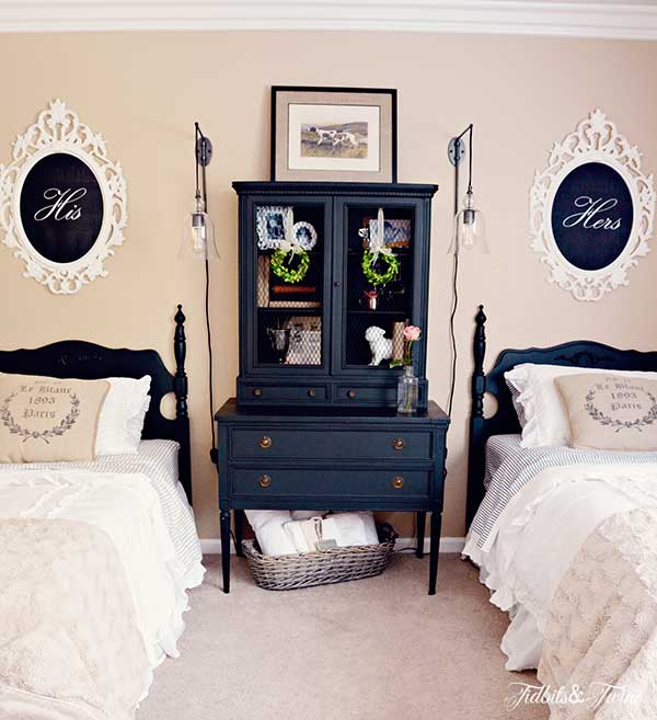 Mismatched Twin Beds In One Room