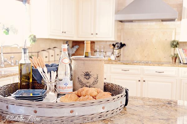 Beautiful white farmhouse style kitchen kellyelko.com
