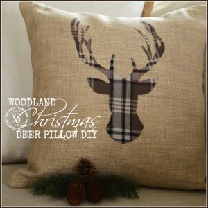 Make a Woodland Christmas Deer Pillow kellyelko.com