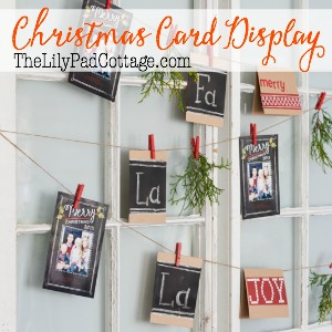 Christmas Card Display kellyelko.com