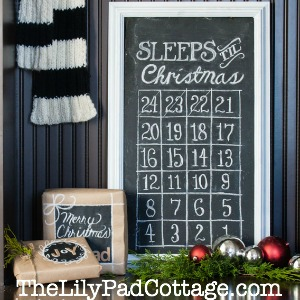 Make a Christmas Countdown Calendar electicallyvintage.com