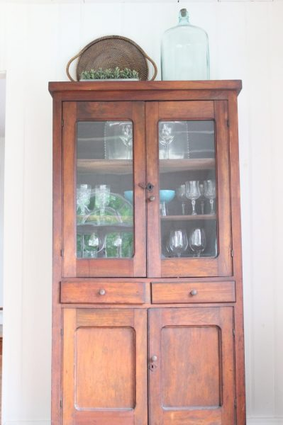 This hutch is perfect for displaying glassware collections eclecticallyvintage.com