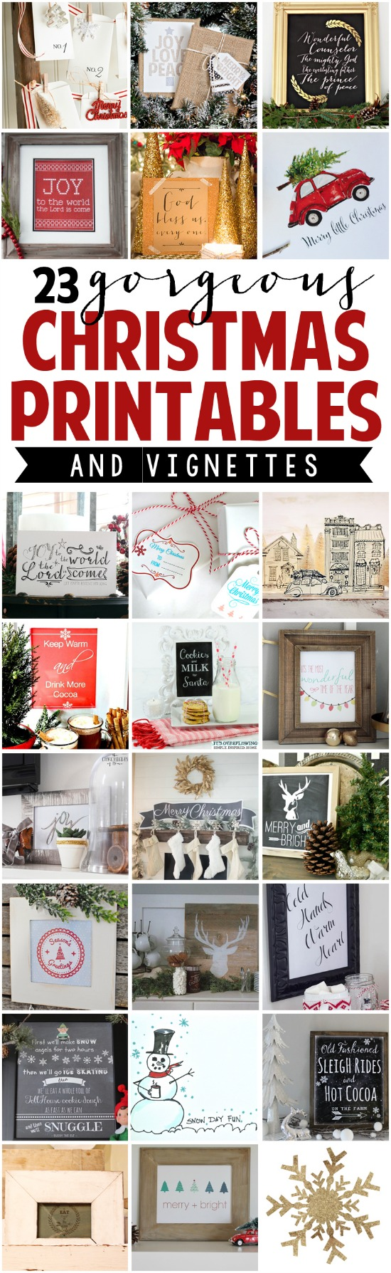 23 Gorgeous Christmas Printables with Display Ideas eclecticallyvintage.com