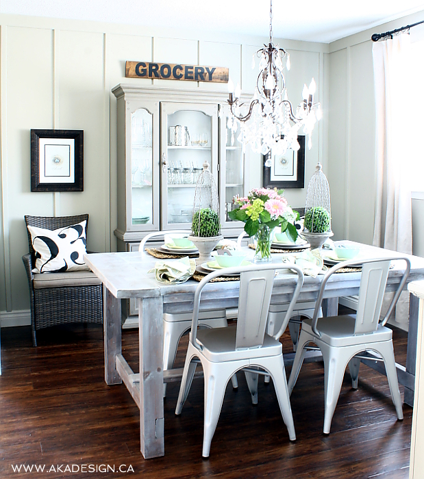 Eclectic Home Tour of AKA Design - love this cottage dining room kellyelko.com