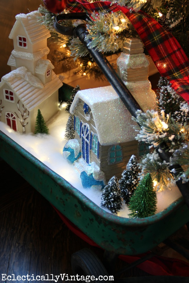 Make a DIY Christmas village complete with snow that glows kellyelko.com