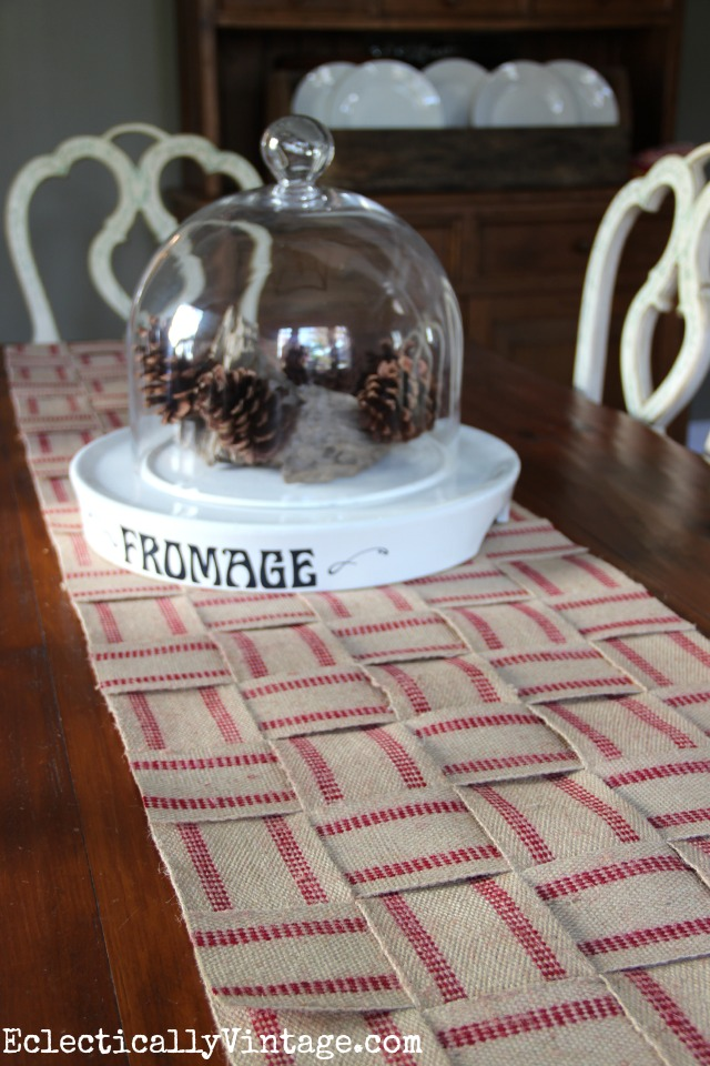 Make a no sew jute table runner kellyelko.com
