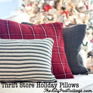 Make Thrift Store Holiday Pillows
