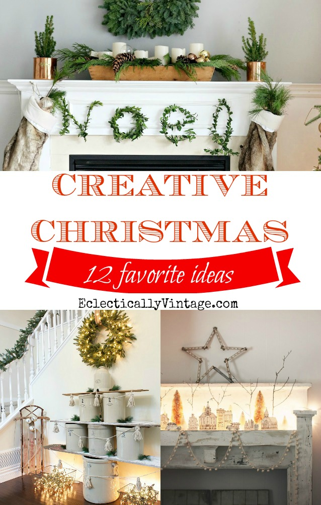 Creative Christmas Decorating Ideas - these are really unique! kellyelko.com