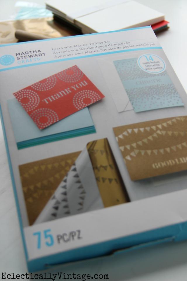 Martha Stewart Foiling Kit - everything you need to create beautiful cards kellyelko.com