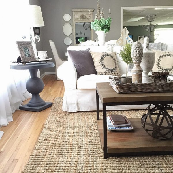 Eclectic Home Tour of 12th and White Blog - beautiful neutral home on a budget kellyelko.com
