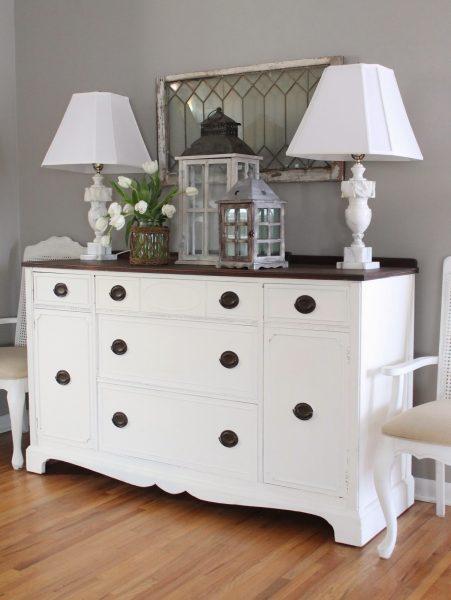 Vintage dresser in the dining room kellyelko.com