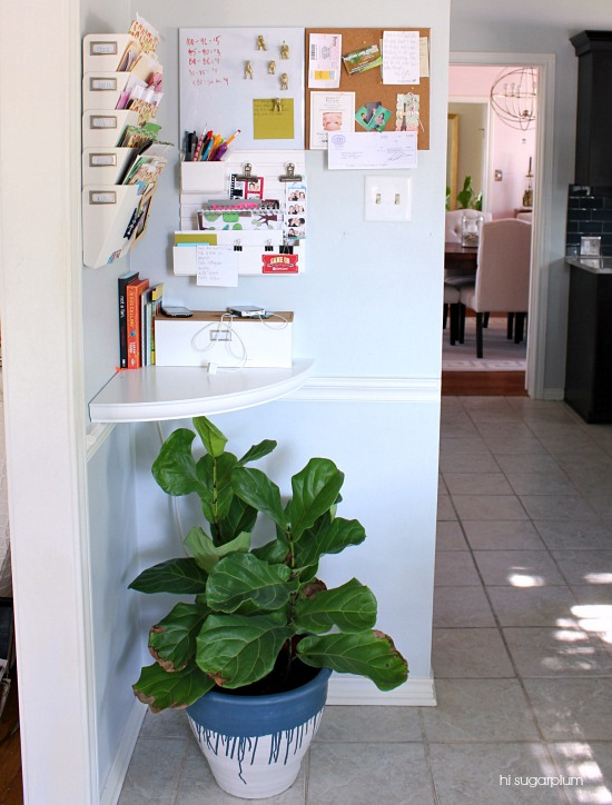 Family command center in the kitchen - perfect way to stay organized kellyelko.com