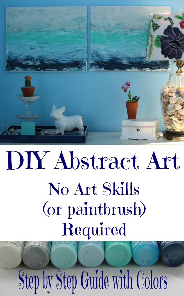 DIY Abstract Art Tutorial - she makes it look so easy I think even I could do this! kellyelko.com