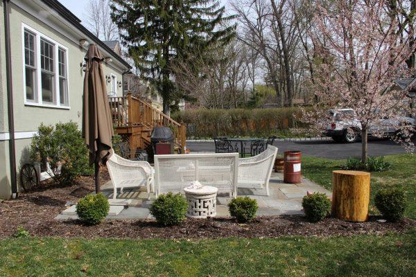 Before backyard with landscaping plan kellyelko.com