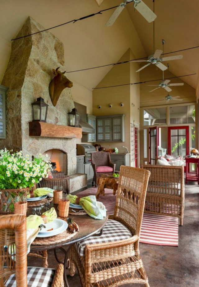 Eclectic Home Tour Migura House - So warm and cozy and inviting - can you believe this is just the pool house! kellyelko.com