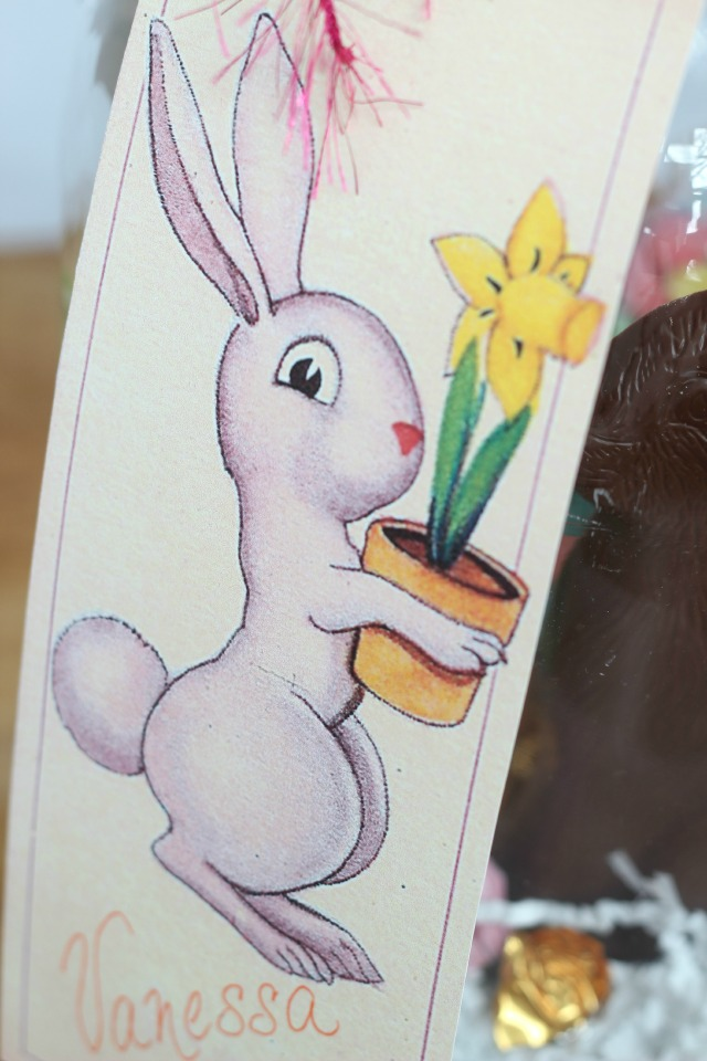 Free Easter Bunny Printable - perfect for tying onto Easter baskets and spring gifts kellyelko.com