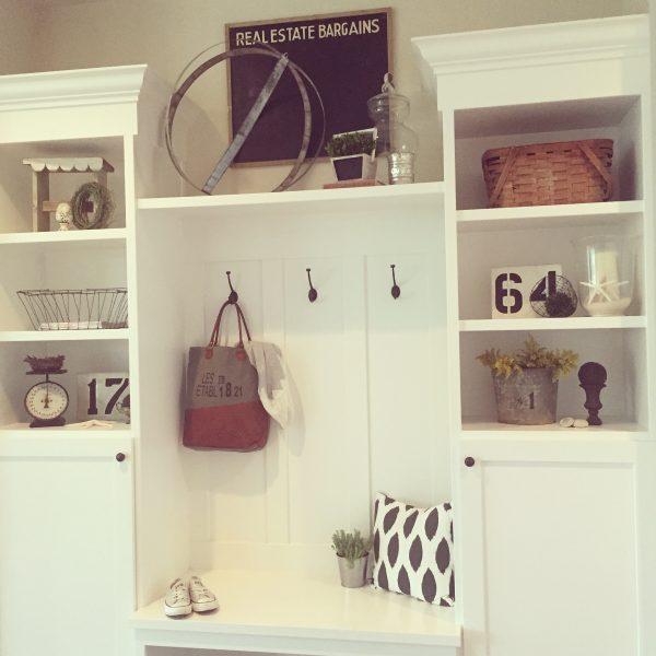 White mudroom - love all the shelves for storage kellyelko.com