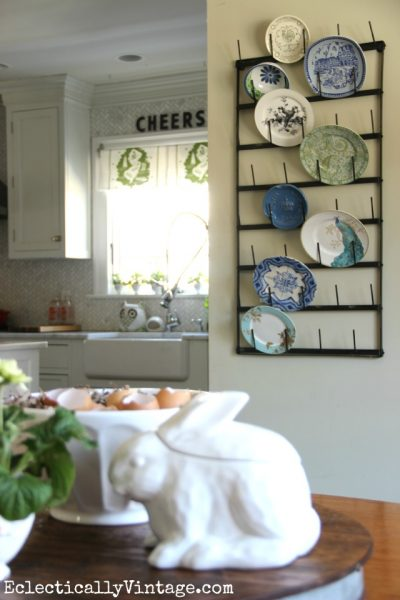 Creative Display Ideas for Wall Bottle Drying Rack eclecticallyvintage.com