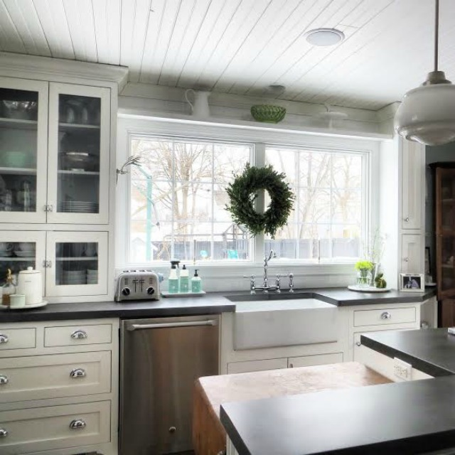 White-Kitchen-Black-Counters