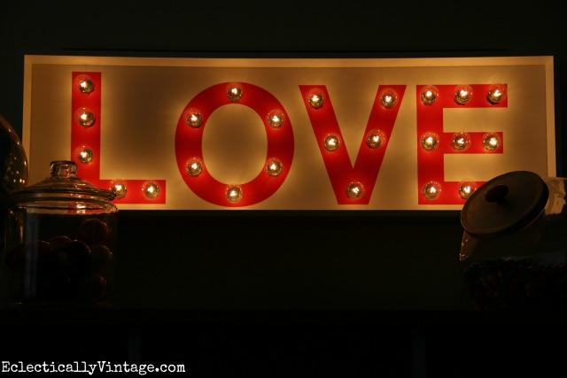 Love marquee light kellyelko.com