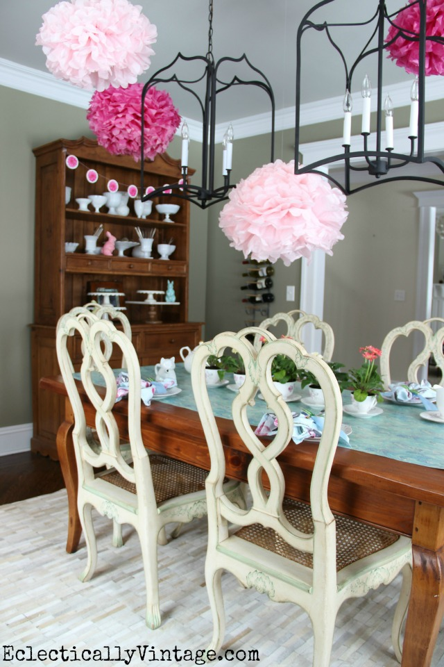 Throw a festive spring party with colorful tissue paper flowers and more! kellyelko.com