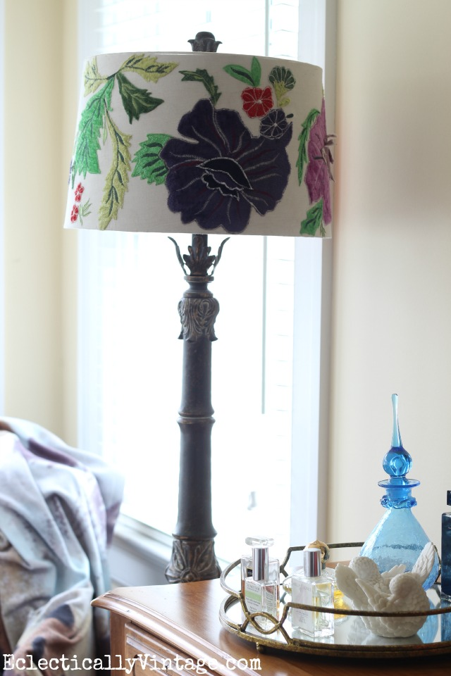Anthro inspired embroidered lamp shade kellyelko.com