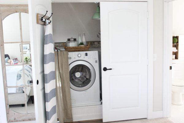 Turn a closet into a laundry room kellyelko.com