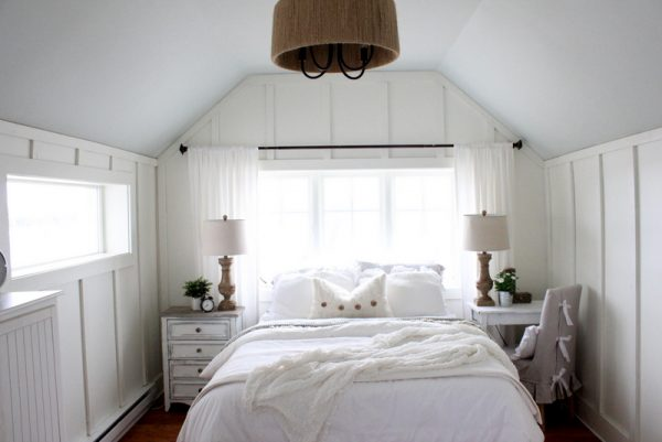 Cozy white country bedroom kellyelko.com
