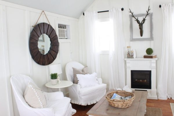 Love this neutral family room with lots of texture kellyelko.com