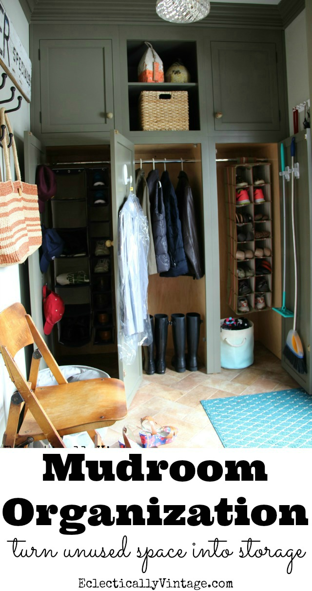 Mudroom Organization Ideas - creative tips for making the most out of every square inch of space for storage kellyelko.com