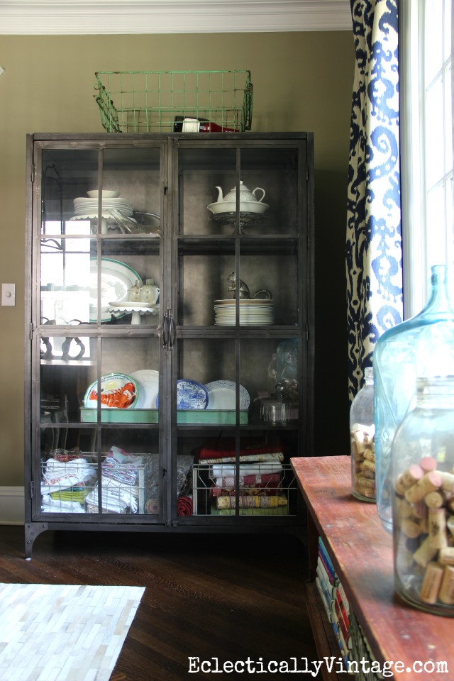 Love this huge industrial cabinet for display eclecticallyvintage.com