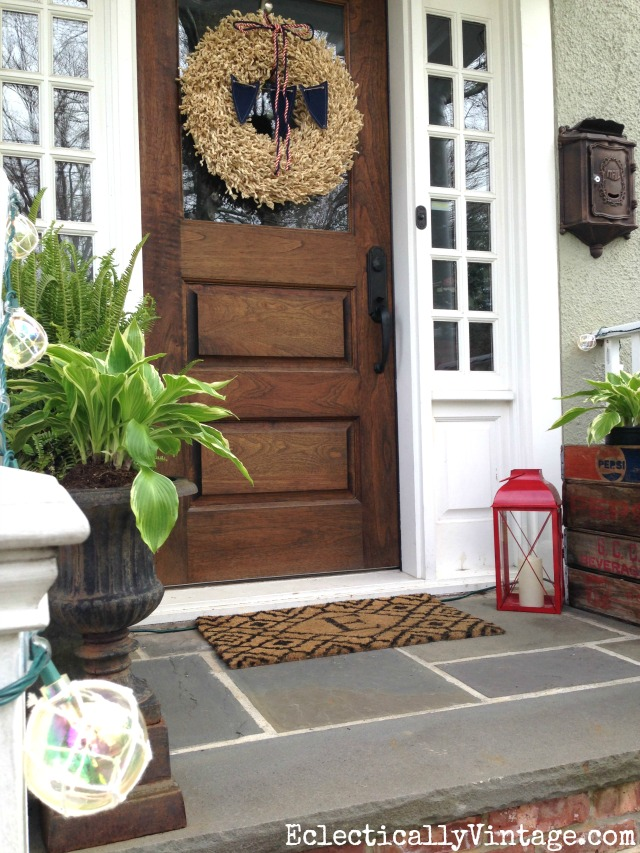 Summer porch decorating ideas for Small front porch decor