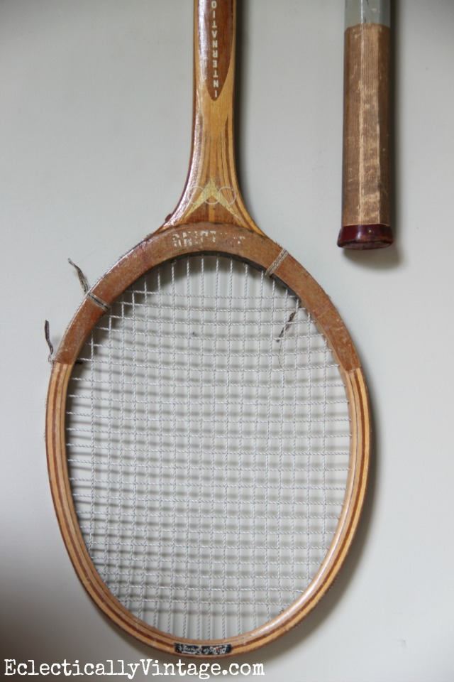 Vintage tennis racquet art eclecticallyvintage.com