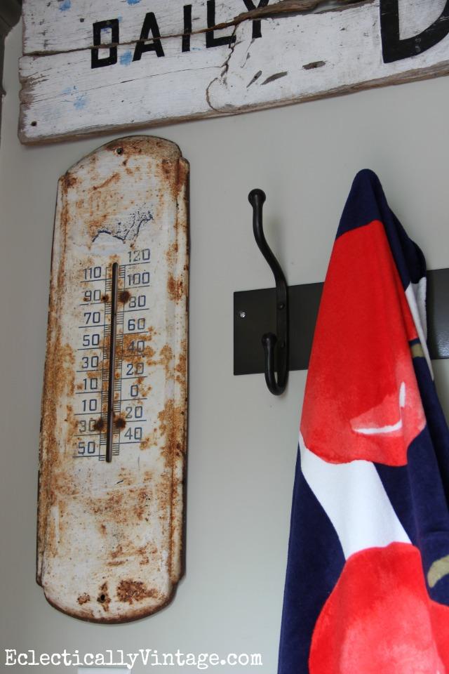 Vintage wall thermometer kellyelko.com
