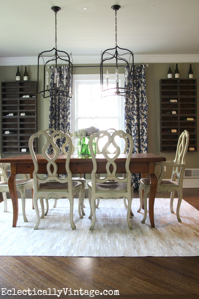 Wine cellar dining room eclecticallyvintage.com