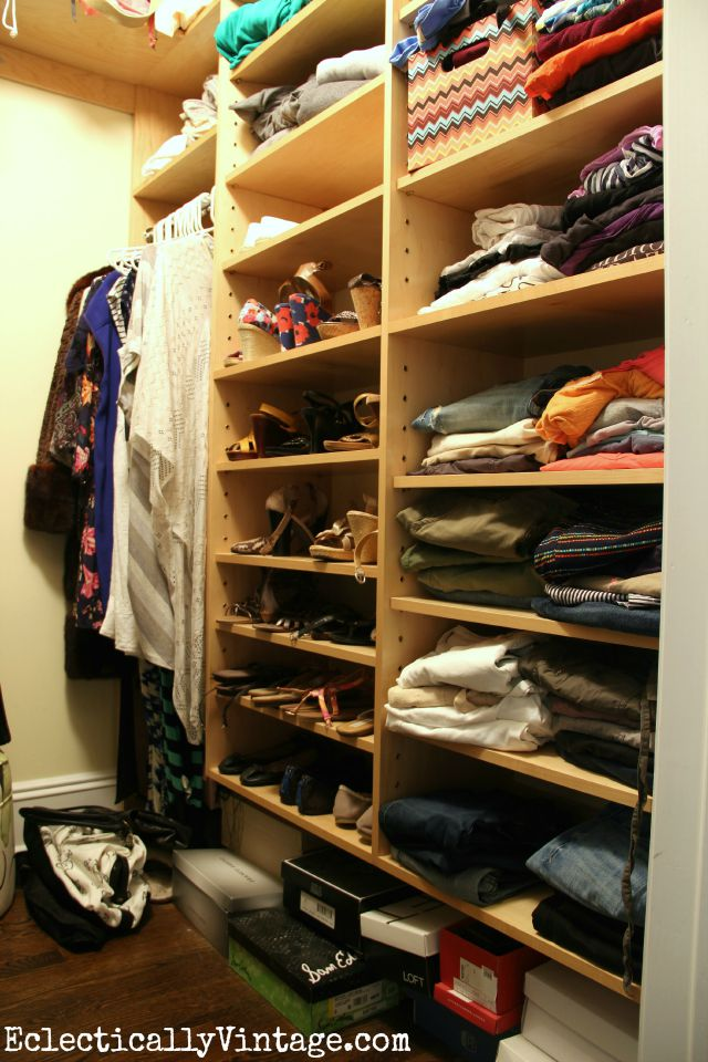 Before closet - love what she did with the after kellyelko.com