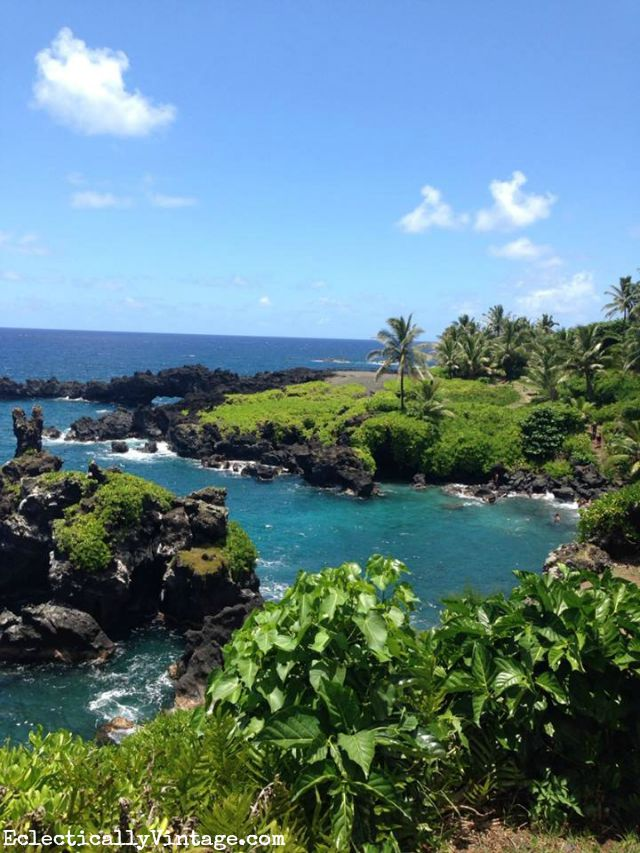 Gorgeous black sand beach Maui, Hawaii kellyelko.com
