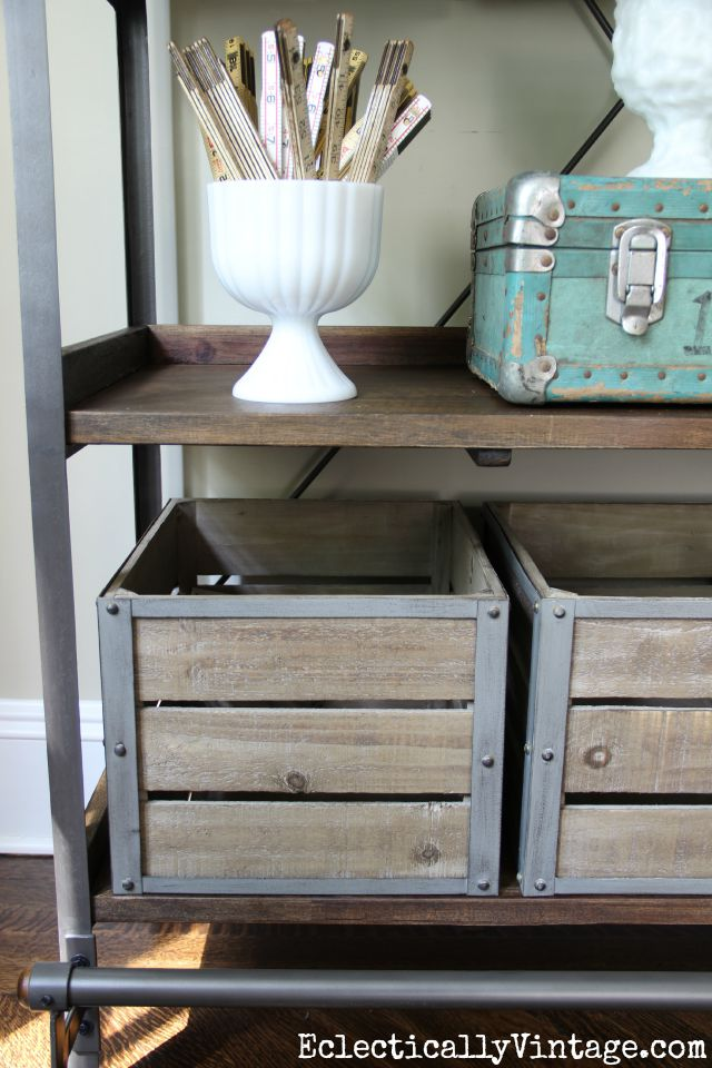 Love the wood and metal crates kellyelko.com